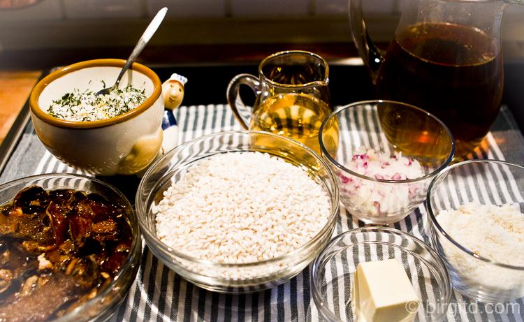 Zutaten für Risotto con Funghi