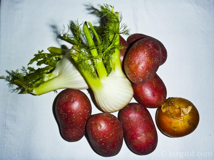 Zutaten für die Kartoffel-Fenchel-Pfanne