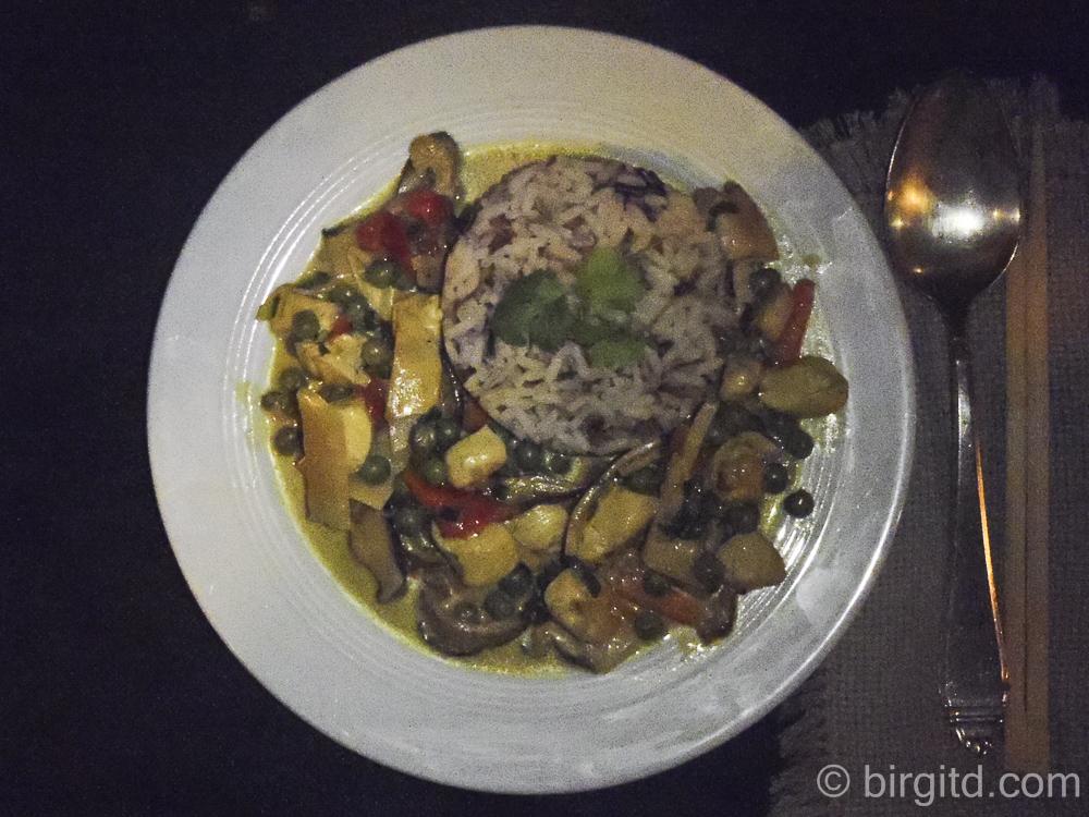 Geflügel-Curry mit Shiitake-Pilzen