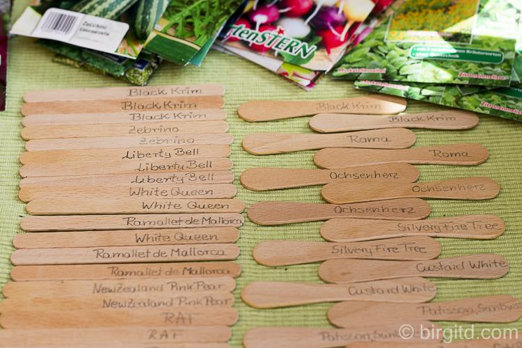 Mein Tomatenjahr: Stecketiketten für Tomatenpflanzen