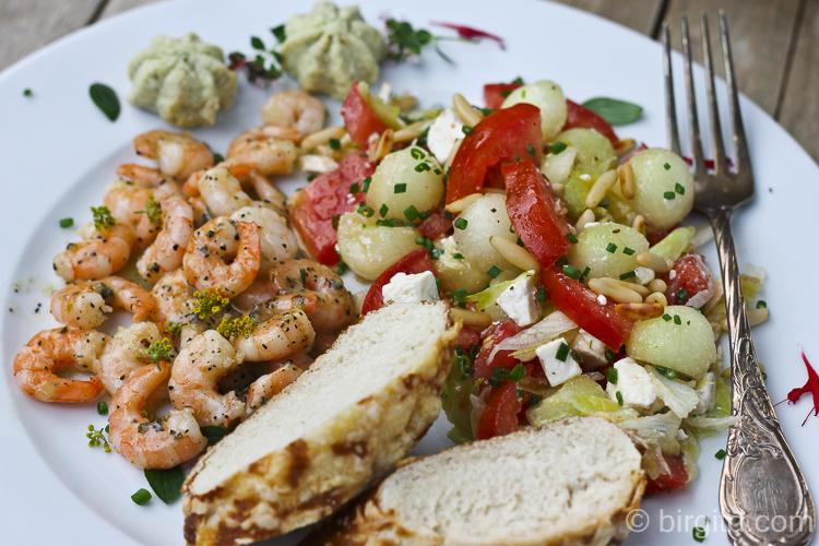 Tomaten-Melonen-Salat