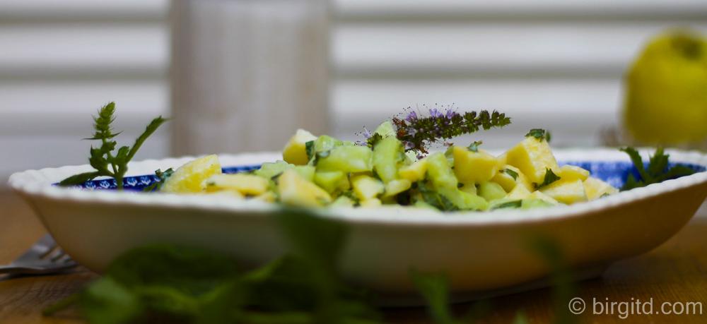 Gurke, Apfel und Minze – ein perfektes Salat-Trio