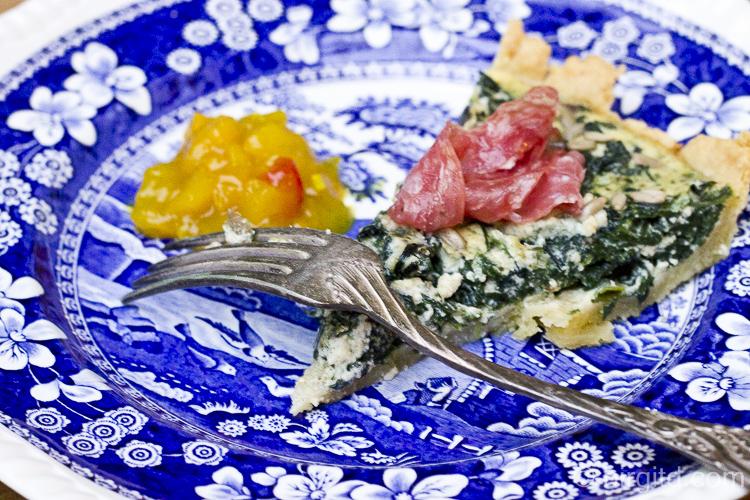 Spinat-Tarte mit Roquefort