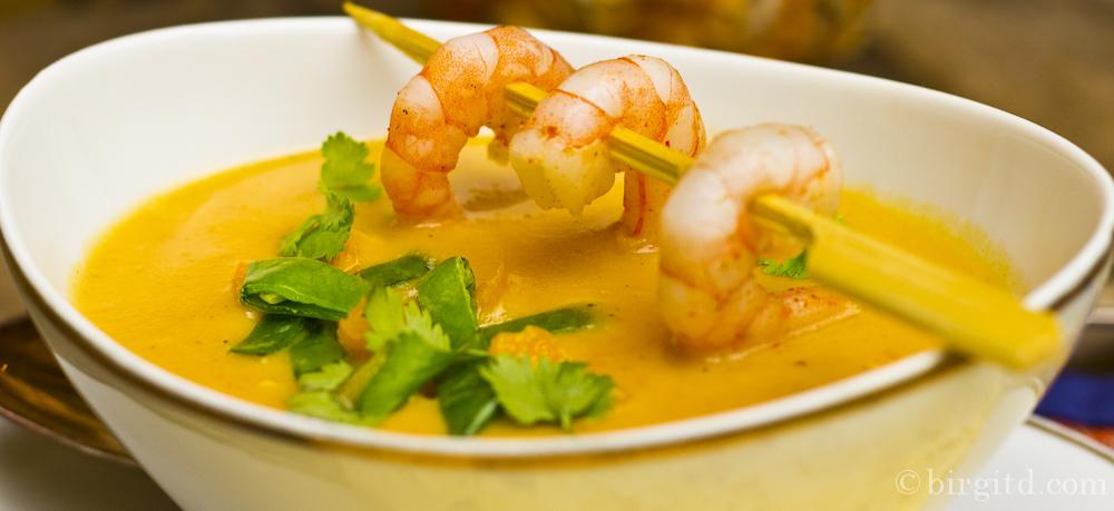 N° 3  ♥  Suppe von der Süßkartoffel mit Ingwer & Zitronengras