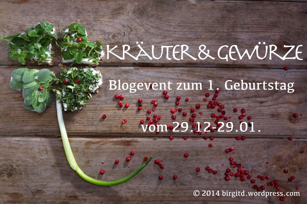 Blog-Event, Kräuter und Gewürze