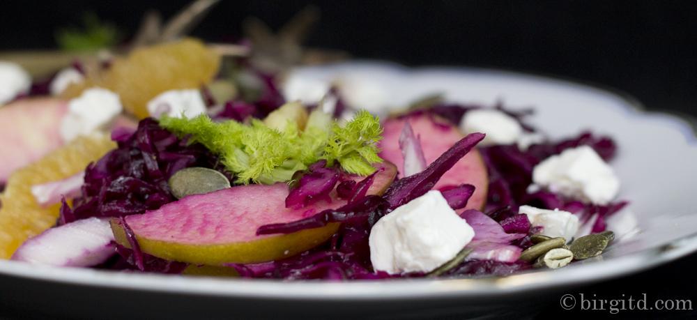 Knackig-fruchtiger Fenchel-Rotkraut-Salat mit Schafkäse