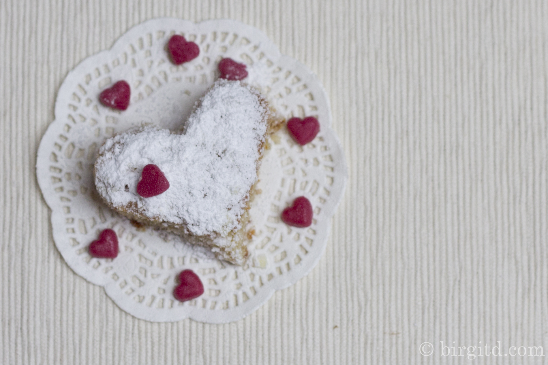Blondies zum Valentinstag