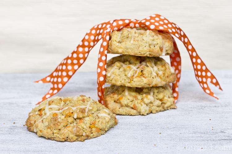 Oster-Cookies mit Möhren, Mandeln & Ingwer