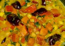 Curry mit Kürbis und Kichererbsen