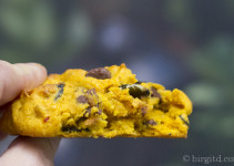 Kürbis-Cookie mit Chocolate-Chips