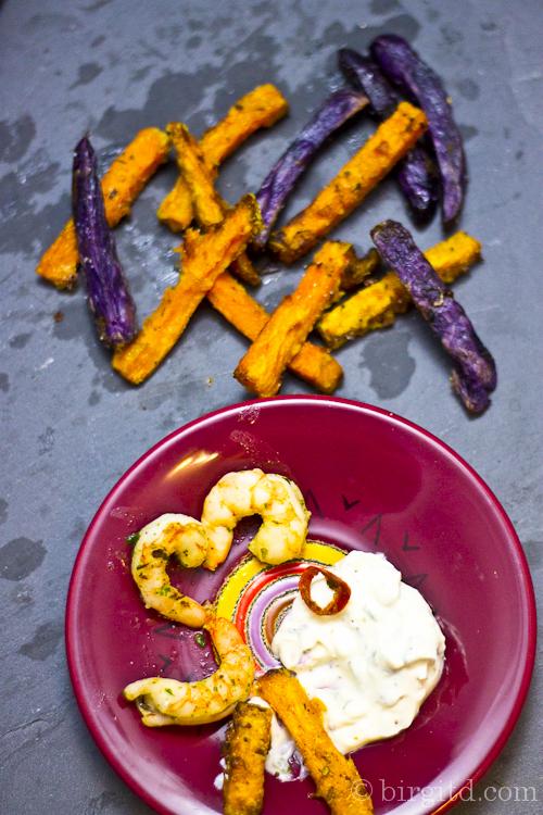 Baked sweet potato fries - Süßkartoffel-Pommes frites