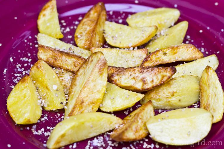 Kartoffelspalten mit Gomasio