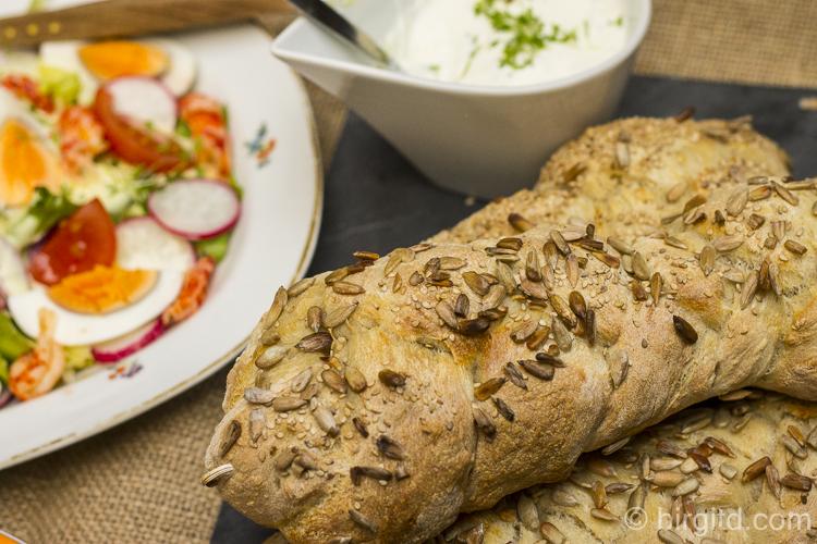Körner-Brot-Zöpfchen