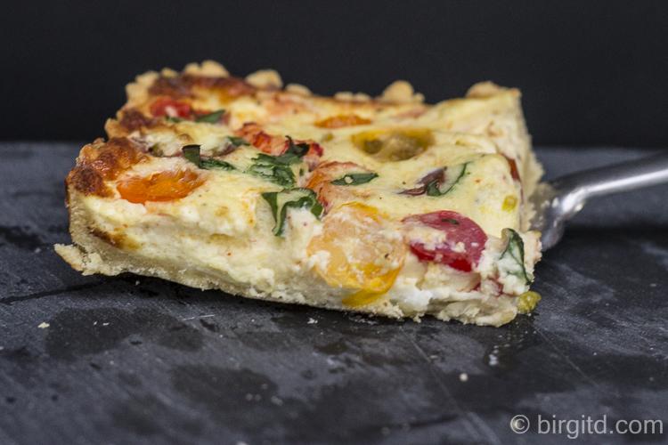 Bärlauch-Tomaten-Quiche