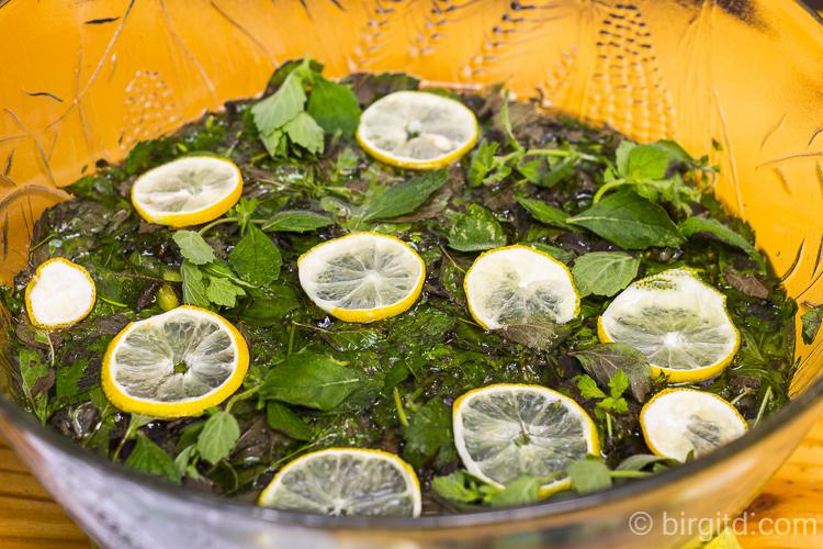 Zitronenmelisse-Sirup, Ansatz