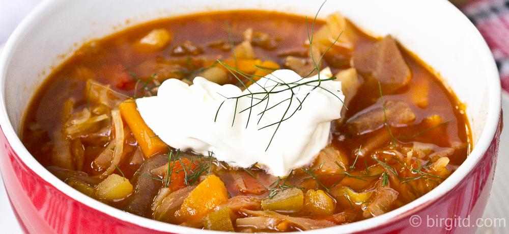 Ukrainischer Borschtsch nach dem Rezept meiner Babuschka ♥ der Suppentipp für den Herbst