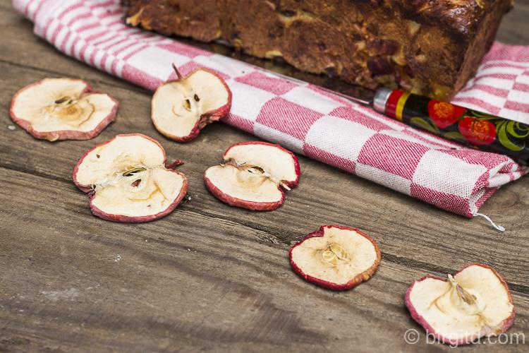 Getrocknete Apfelscheiben