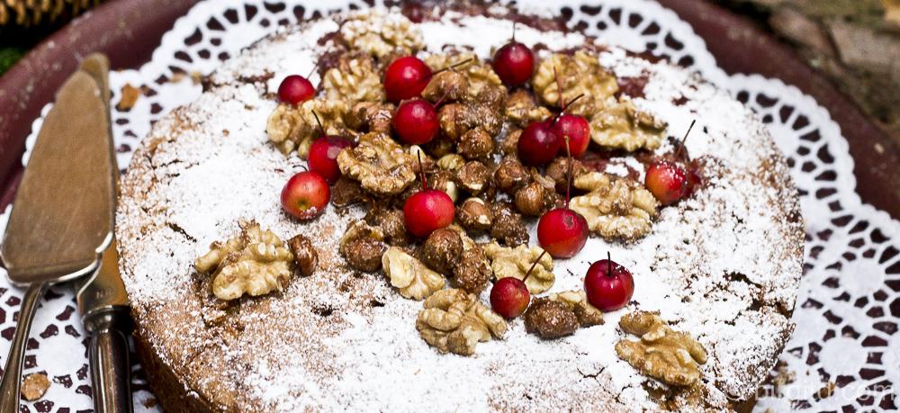 Fruchtig gefüllter Buchweizen-Nusskuchen aus dem Rezeptbuch meiner Babuschka ♥ glutenfrei