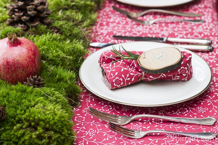 Vorweihnachtliche Tischdekoration