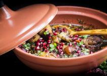 Tajine mit Hühnchen, Granatapfel und Aprikosen