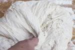 Weizenmischbrotteig zur Mitte falten