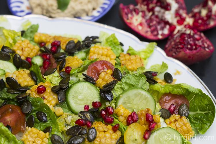 Salat und Humus