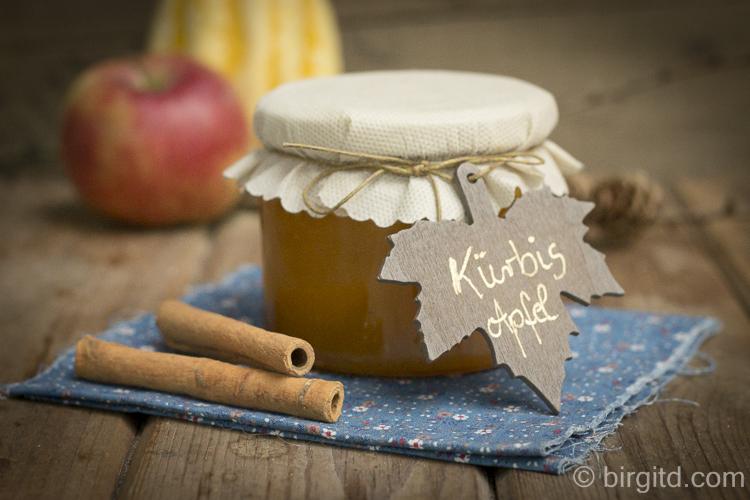 Kürbis-Apfel-Konfitüre mit Ingwer