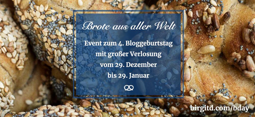 Brote aus aller Welt – Event & Verlosung zum 4.Bloggeburtstag