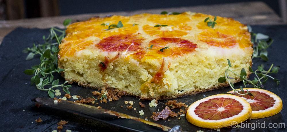 Blutorangenkuchen mit Thymian – gestürzt oder upside-down