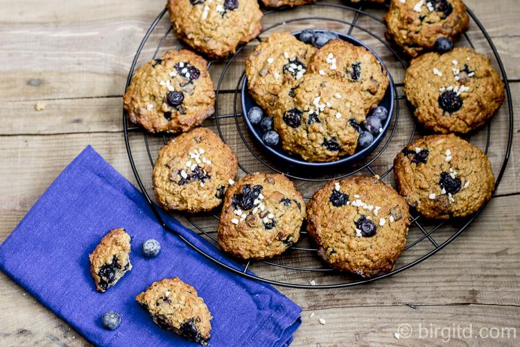 Hafer-Cookies mit Heidelbeeren