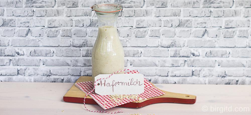 Hafermilch – selbstgemacht, lactosefrei, vegan