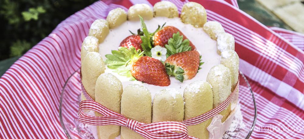 Charlotte russe mit Erdbeeren – cremig & fruchtig-süß
