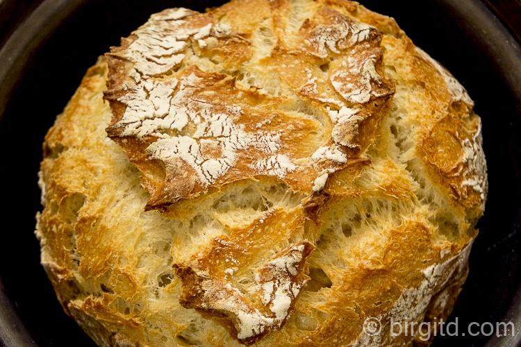 Joghurtbrot, no knead im Topf gebacken