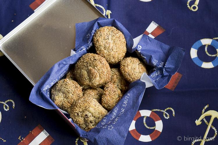 Sesam-Schoko-Walnuss-Cookies