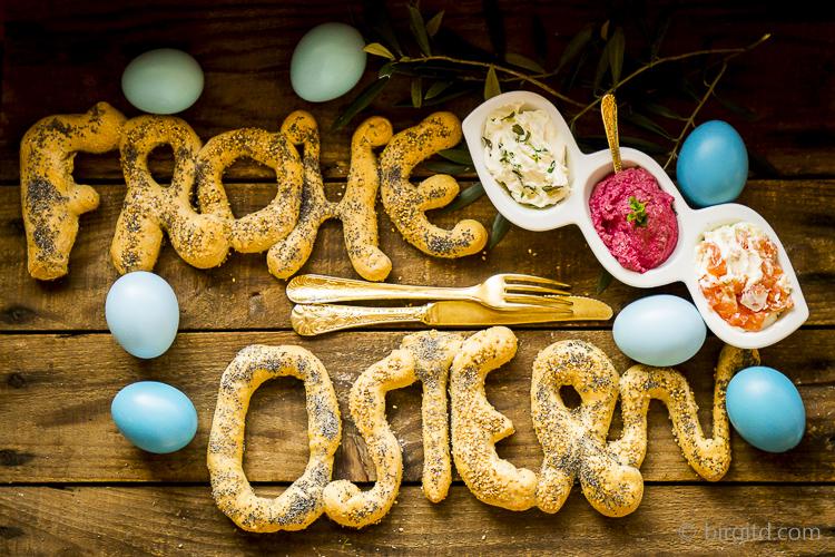Frohe Ostern mit würzigen Dip -Variationen