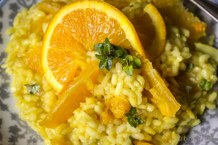 Orangen-Risotto