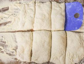 Teiglinge für Ciabatta-Brötchen